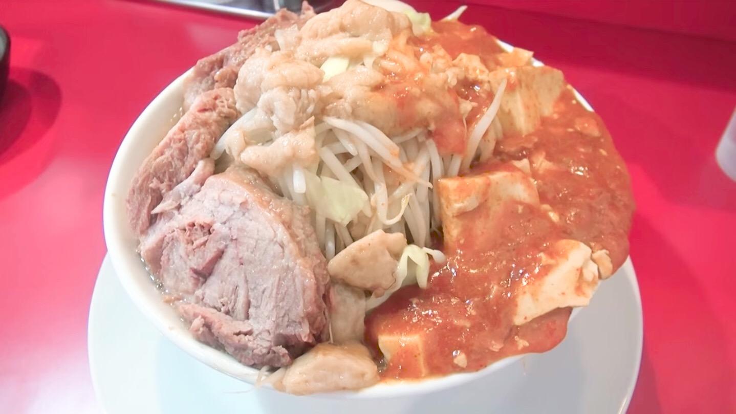 【蒙麺 火の豚】フュージョン+豚マシ:味玉:火のメンマ (埼玉県久喜市栗原) 第134回