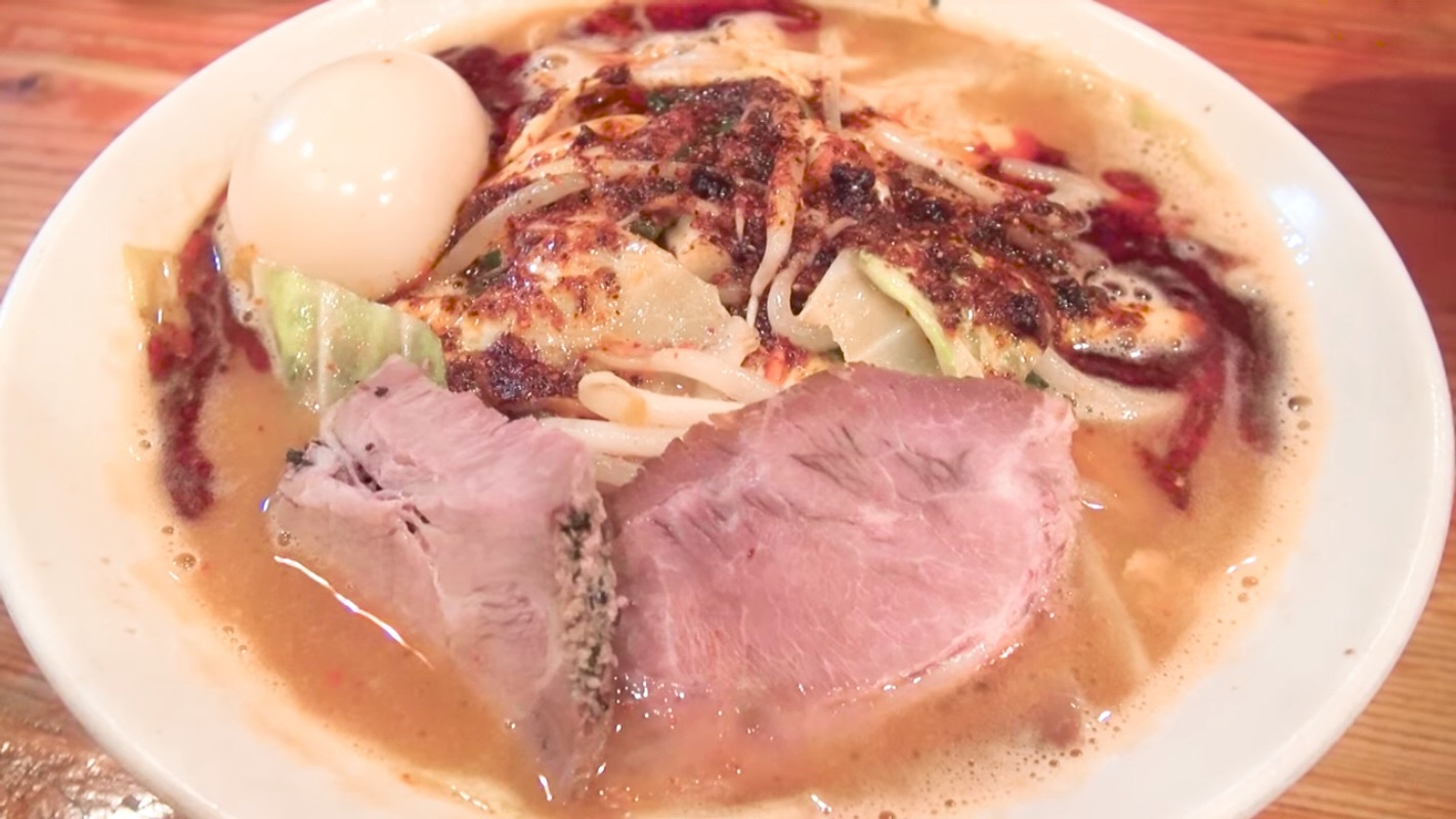 【濃菜麺 井の庄 練馬店】辛辛濃菜麺、トッピング:味玉 (東京都練馬区練馬) 第176回
