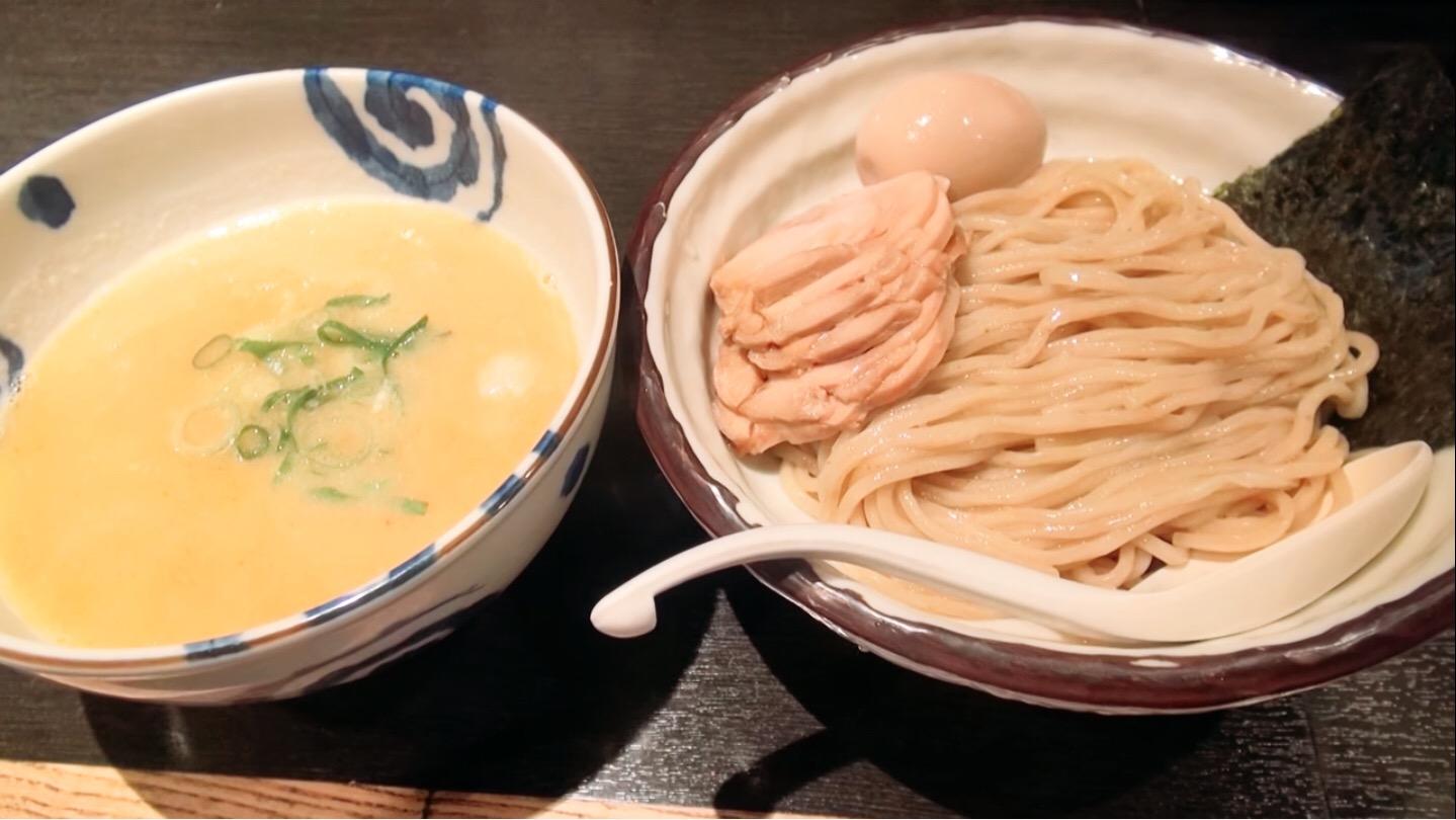 【鶏そば 三歩一】つけそば(並盛)+味玉:鶏チャーシュー (東京都新宿区高田馬場) 第177回