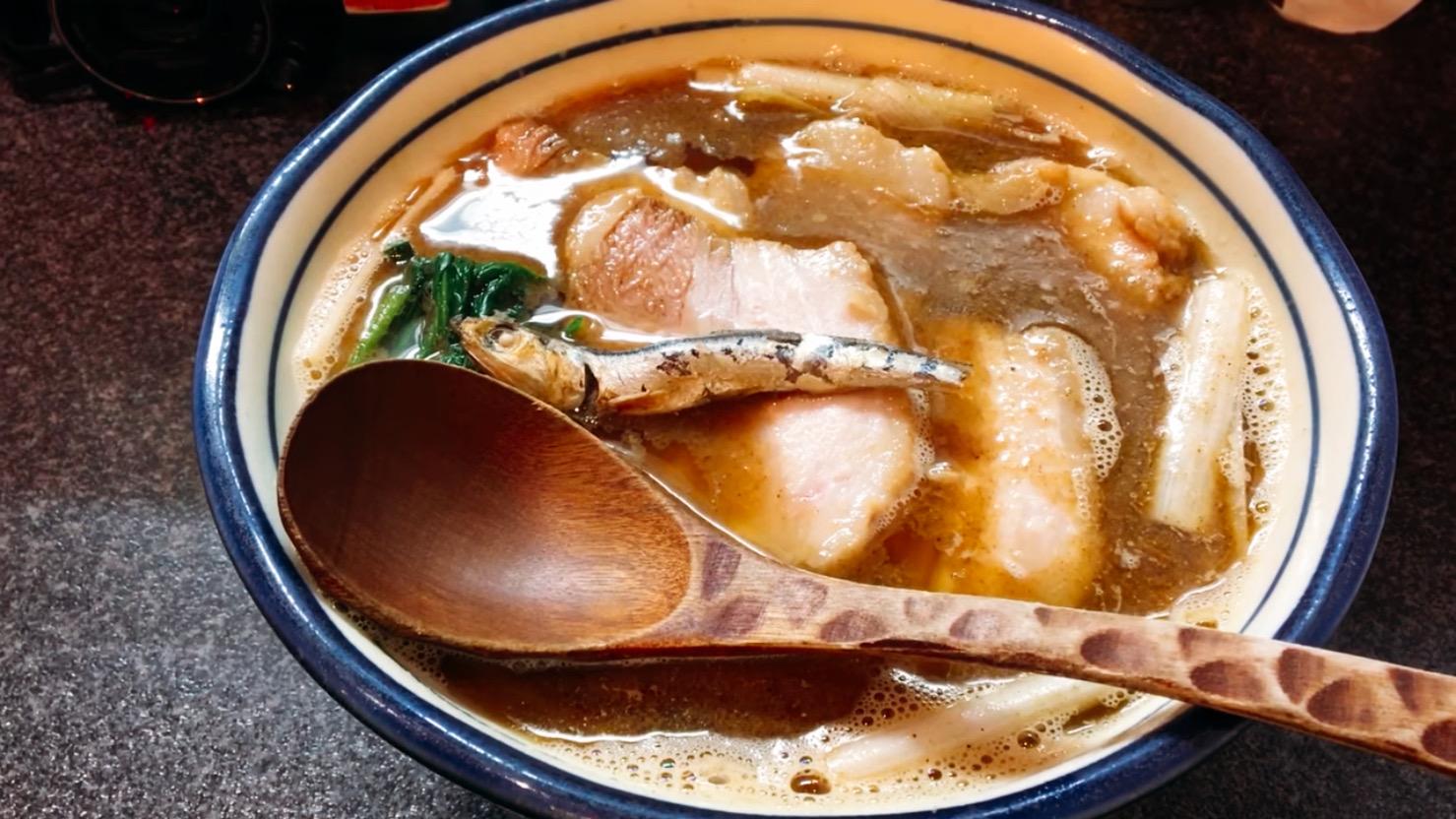 【烈志笑魚油 麺香房 三く】肉かけ(並):肉増し (大阪府大阪市福島区) 第620回