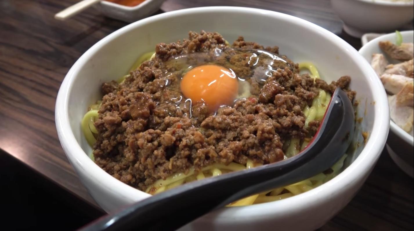 【味噌麺処 花道】まぜそば、トッピング:チンピラ玉子 (東京都中野区野方) 第920回