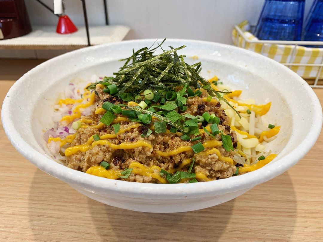 【麺小屋 てち】みそまぜそば並、トッピング:チーズ:みそマヨ (神奈川県川崎市中原区) 第1350回