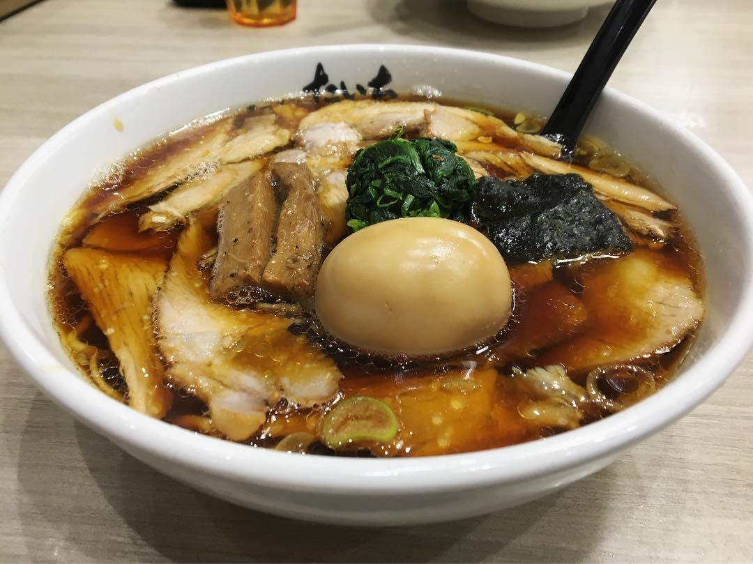 【たいち】醤油チャーシュー麺、トッピング:味玉 (新潟県長岡市堺東町) 第1183回