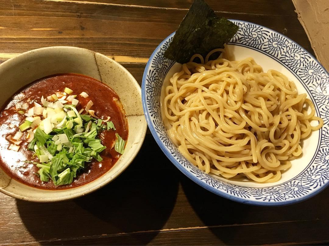 【つけ麺 花みずき】辛つけ麺(3辛)+味玉 (東京都中野区野方) 第358回