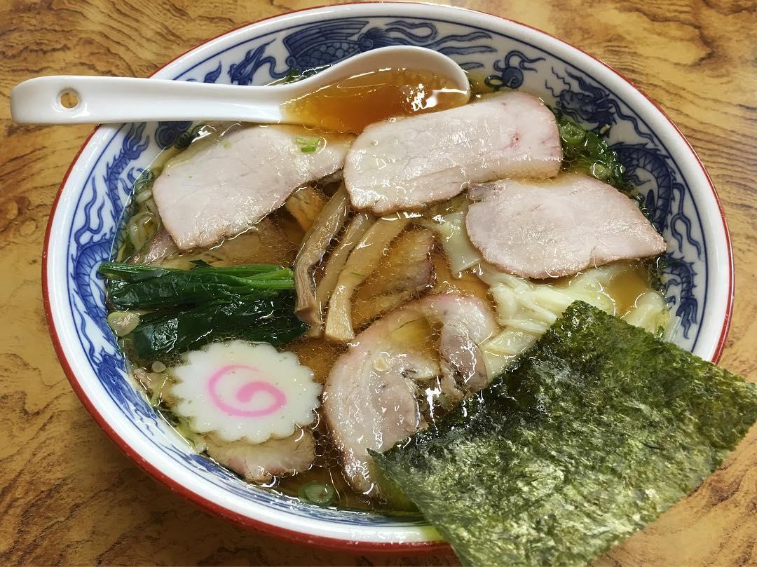 【とら食堂】チャーシューワンタン麺 (福島県白河市双石滝ノ尻) 第376回