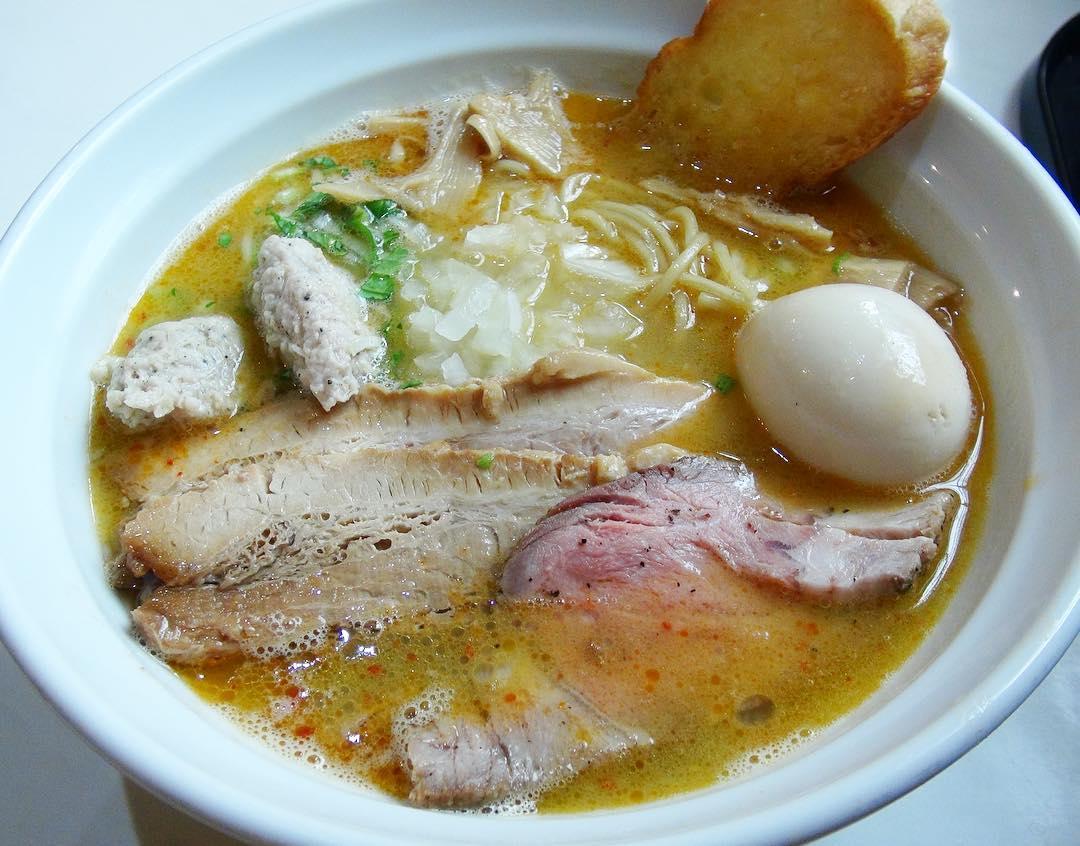 【はりけんラーメン】鶏そば 塩(特製トッピング)、エビまぜそば (茨城県つくば市栗原) 第298回