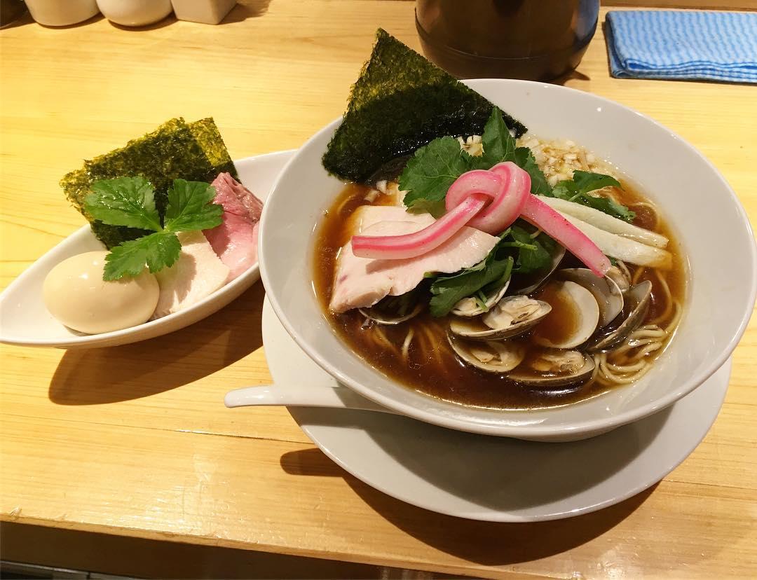 【むぎとオリーブ】特製 鶏・煮干し・蛤のトリプルSOBA (東京都中央区銀座) 第437回