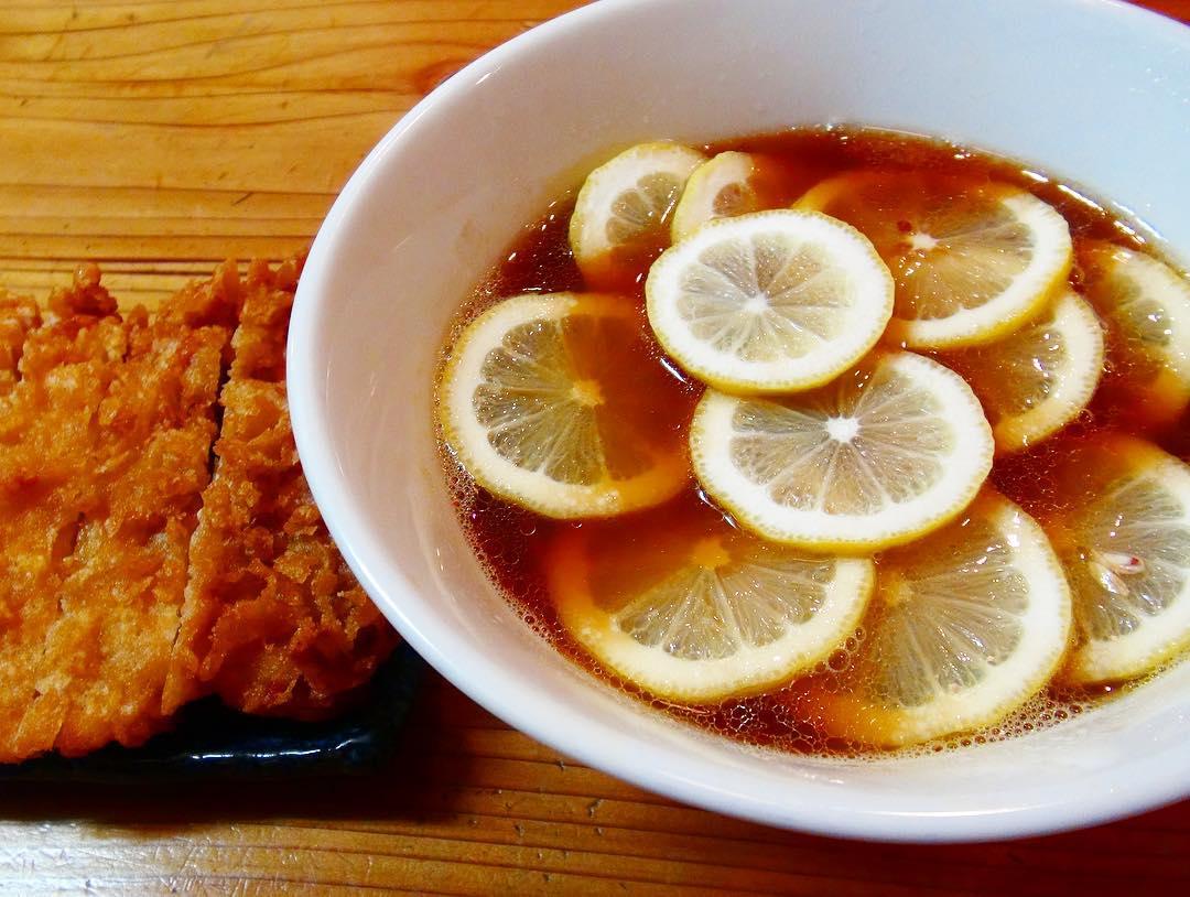 【りんすず食堂】レモンラーメン+鶏天 (東京都江東区大島) 第270回