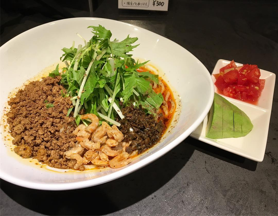 【タンタンタイガー】汁なし担々麺+野菜2種盛 (東京都台東区鳥越) 第589