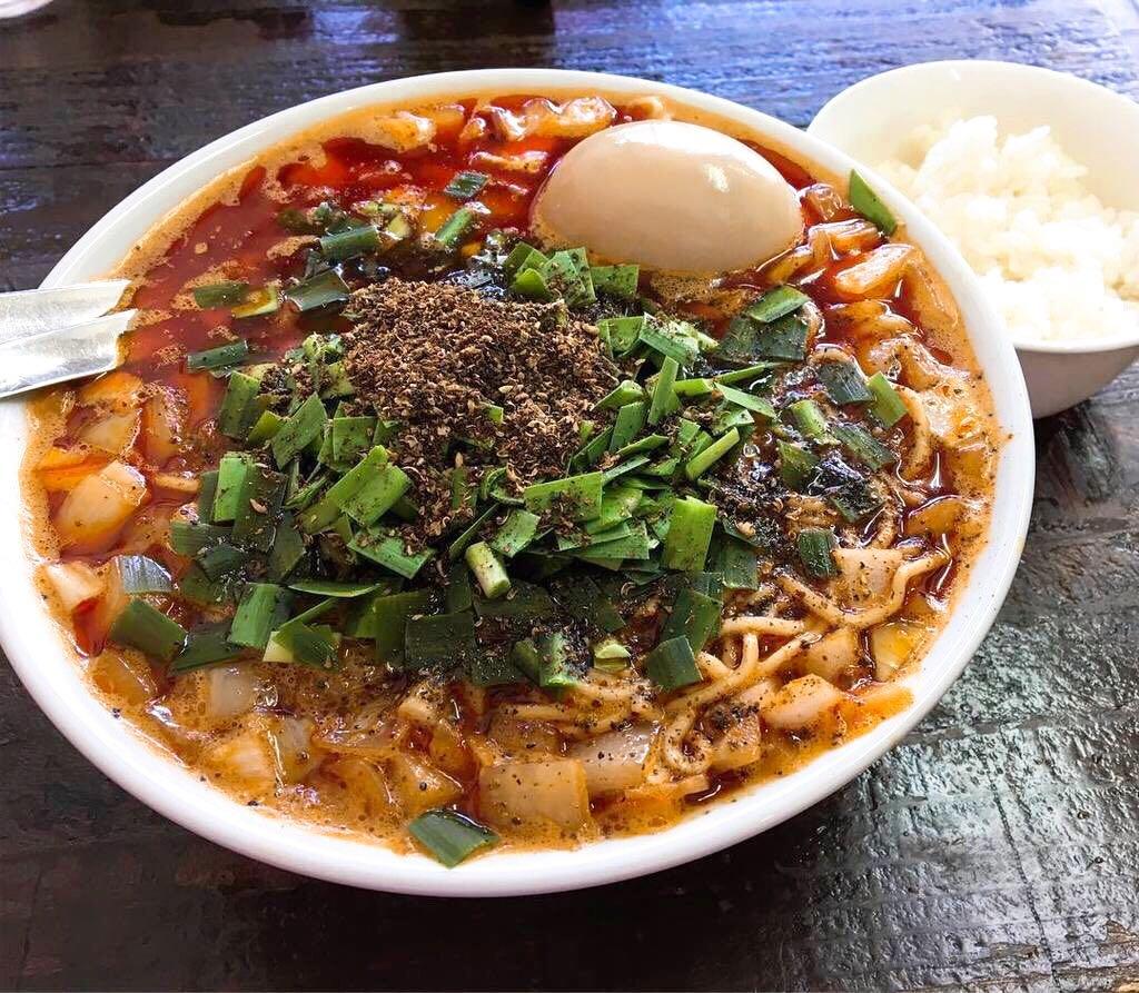 【ビンギリ】勝浦タンタン麺、トッピング:味玉 (東京都杉並区桃井) 第505回