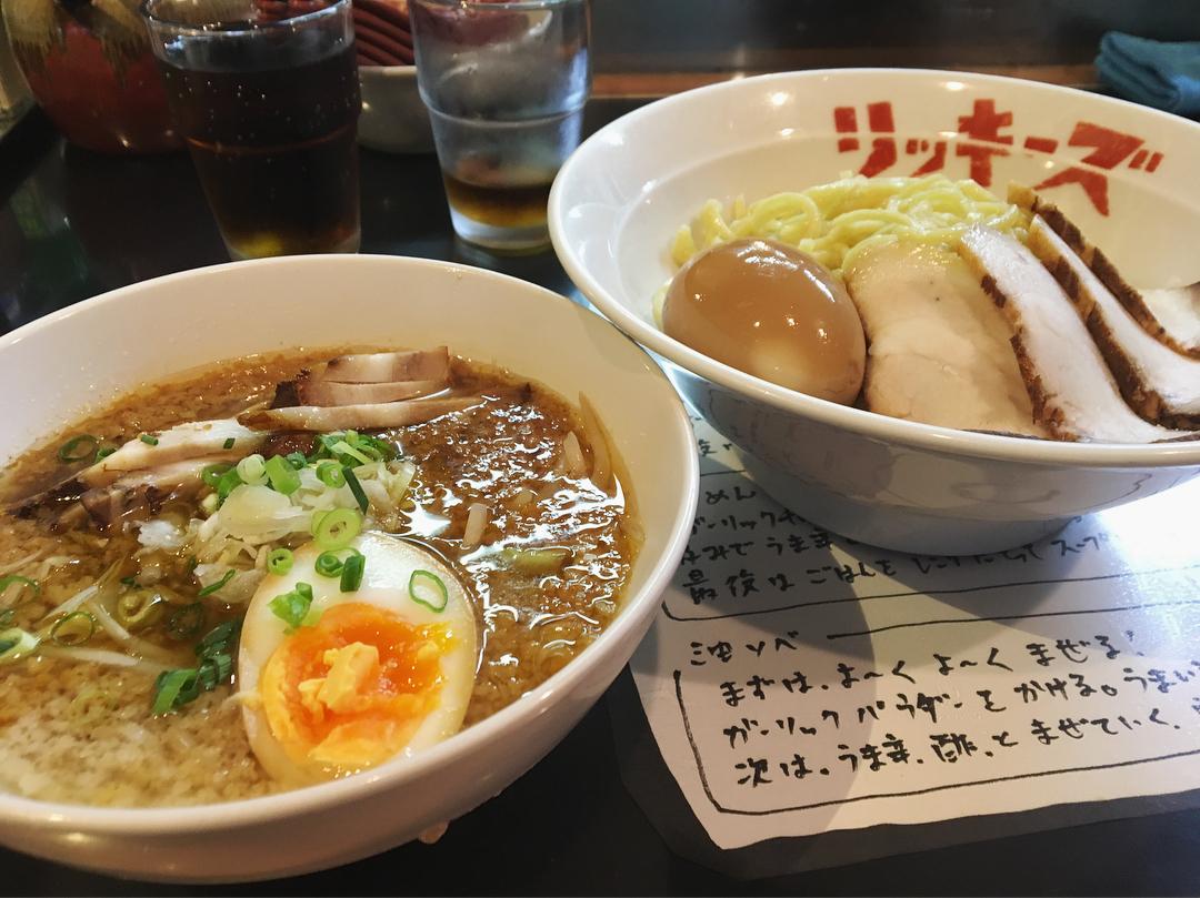 【リッキーズ】チャーシューつけ麺、トッピング:味玉 (東京都板橋区宮本町) 第976回