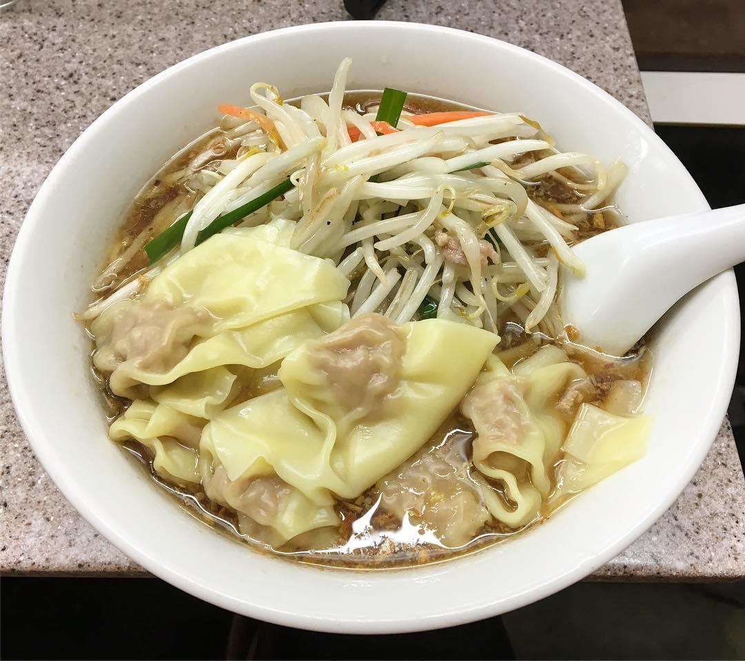 【喜楽(きらく)】もやしワンタン麺 (東京都渋谷区道玄坂) 第506回