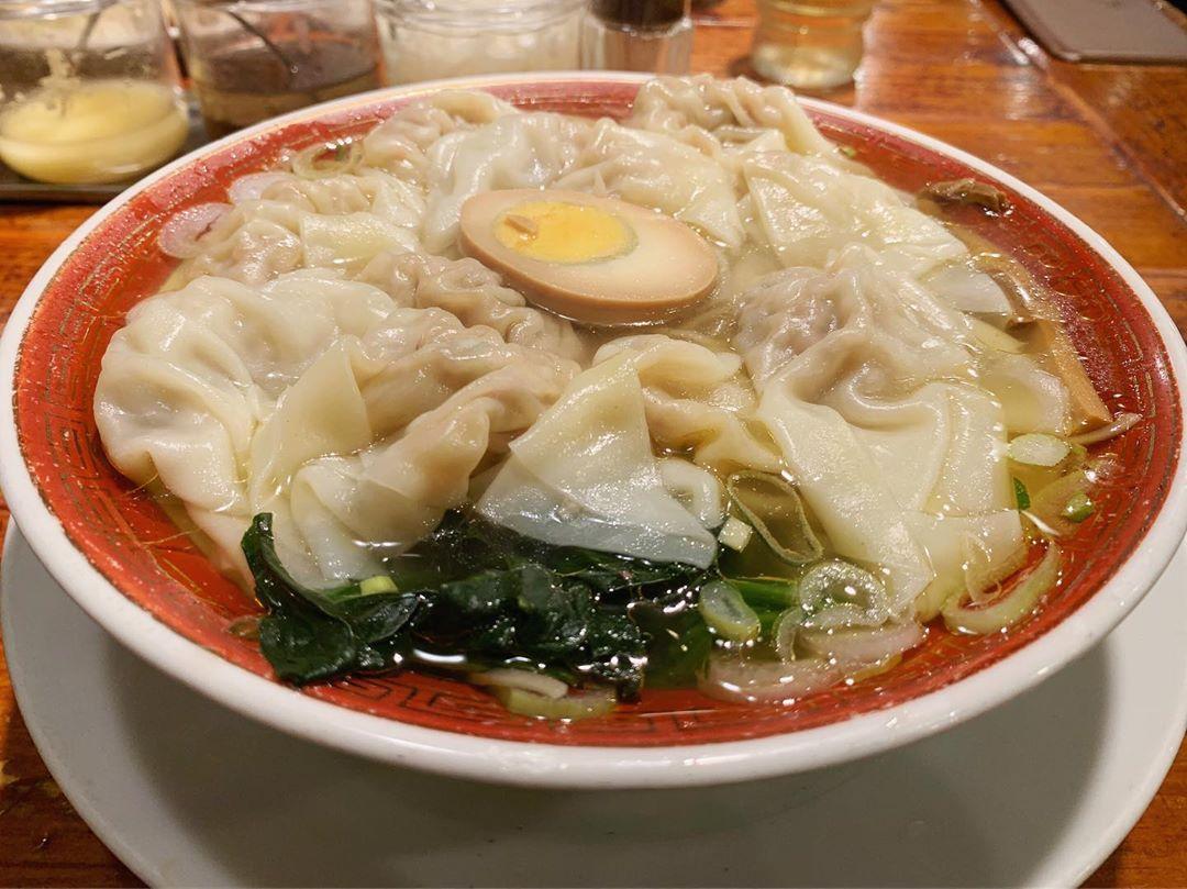 【広州市場 西新宿店】広州ワンタン麺(塩味) (東京都新宿区西新宿) 第1313回