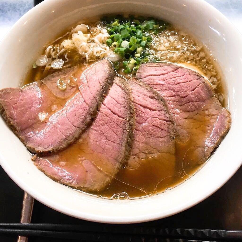 【牛骨らぁ麺マタドール本店】贅沢焼牛らぁ麺(醤油) (東京都足立区千住東) 第343回