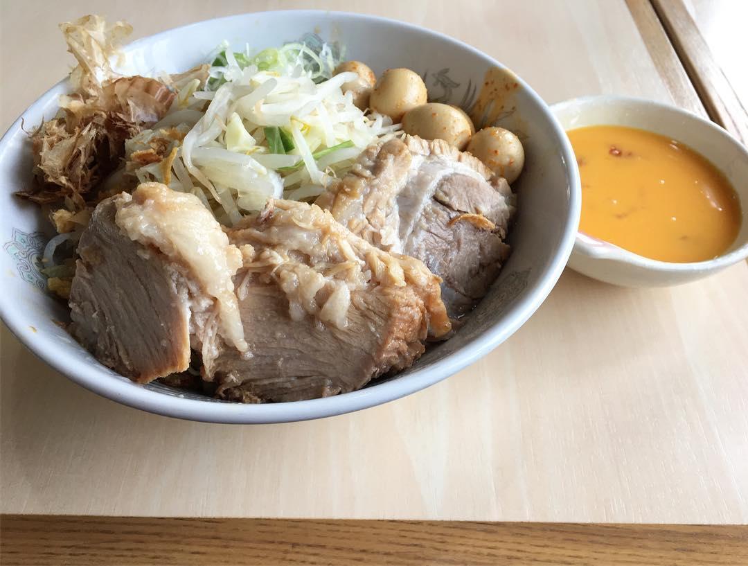 【蒙麺 火の豚】まぜそば(トッピングおまかせ) (埼玉県久喜市栗原) 第547回