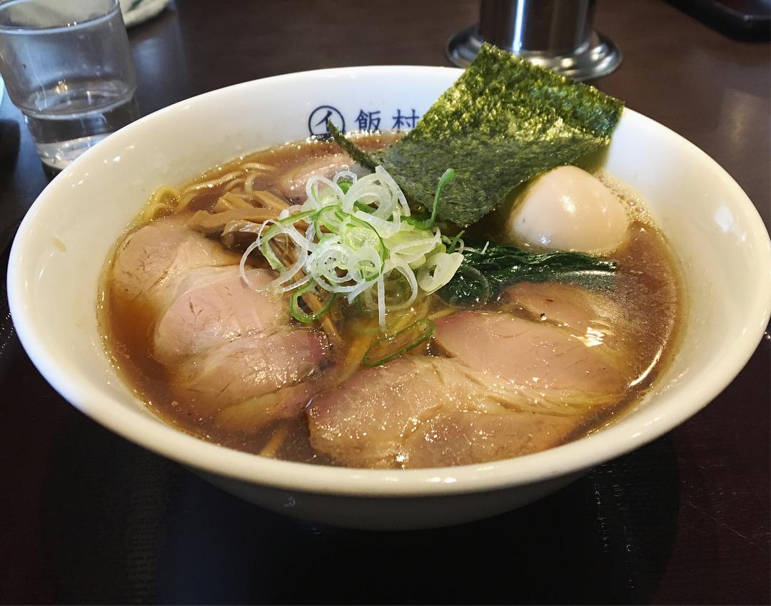 【飯村製作所】中華蕎麦(醤油)、トッピング:味玉 (茨城県つくば市松代) 第938回