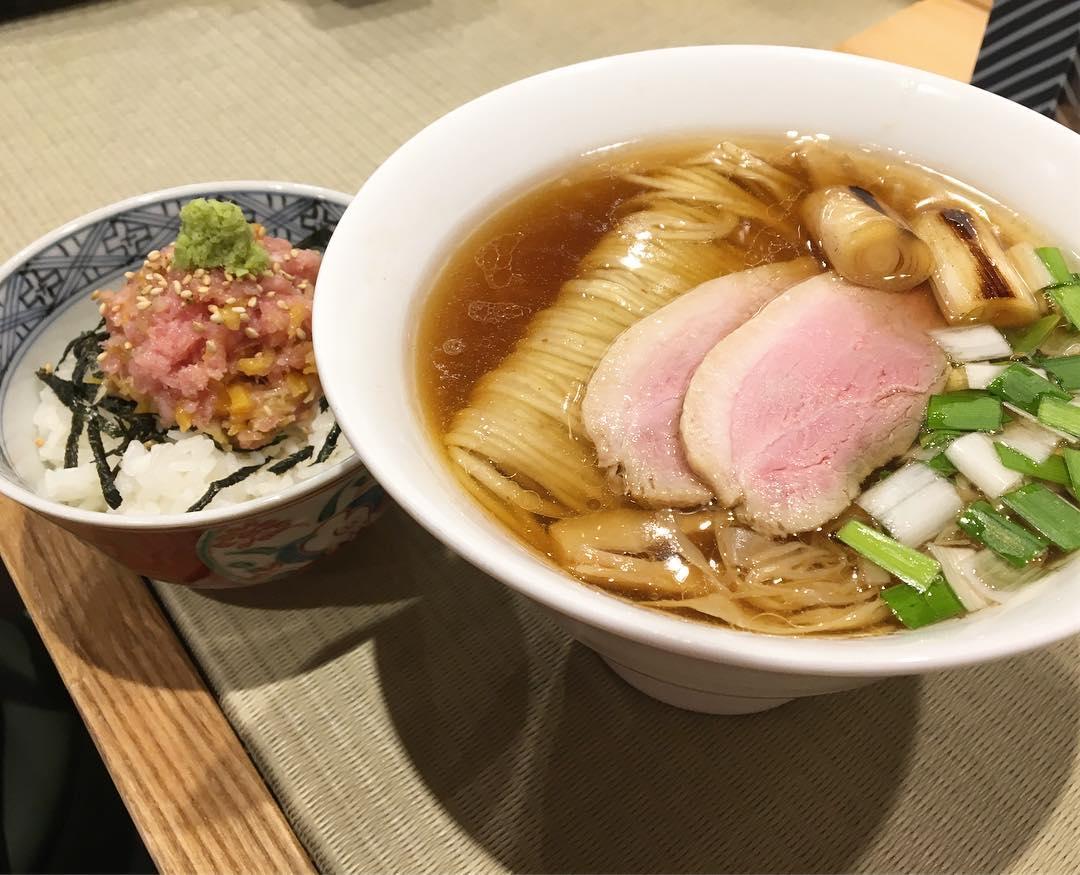 【鴨to葱】鴨らぁ麺(薬味:丸太白ネギ) (東京都台東区上野) 第693回