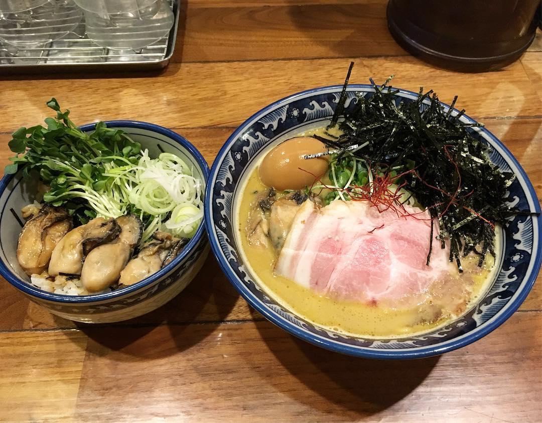 【麺や佐市(さいち)】佐市麺+牡蠣飯 (東京都墨田区錦糸) 第439回