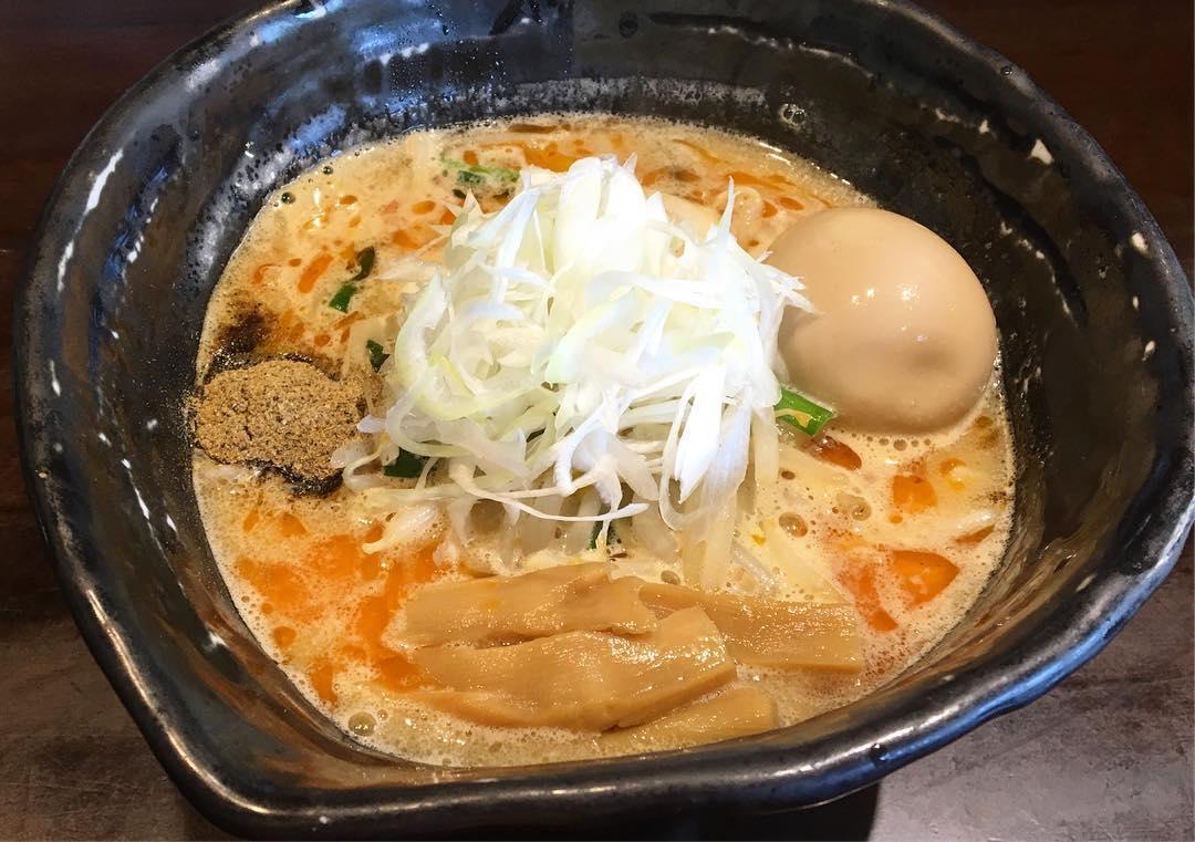 【麺や 蒼(あおい)】味噌ラーメン、トッピング:味玉 (茨城県つくば市竹園) 第593回