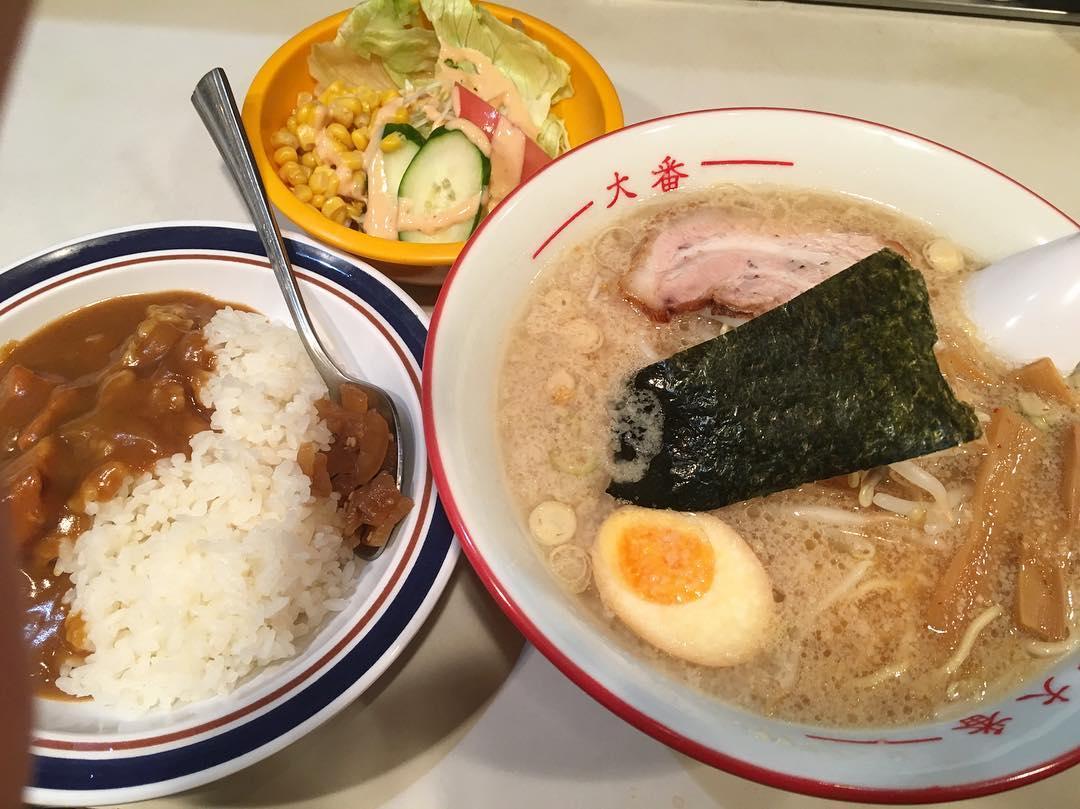 【麺工房 大番】大番ラーメン+半カレー (東京都西東京市ひばりが丘北) 第336回