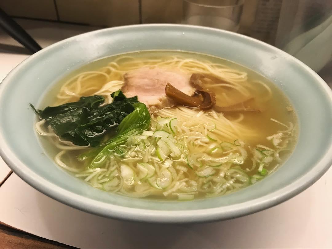 【麺者 侍】透明系塩ラーメン (群馬県桐生市本町) 第1174回