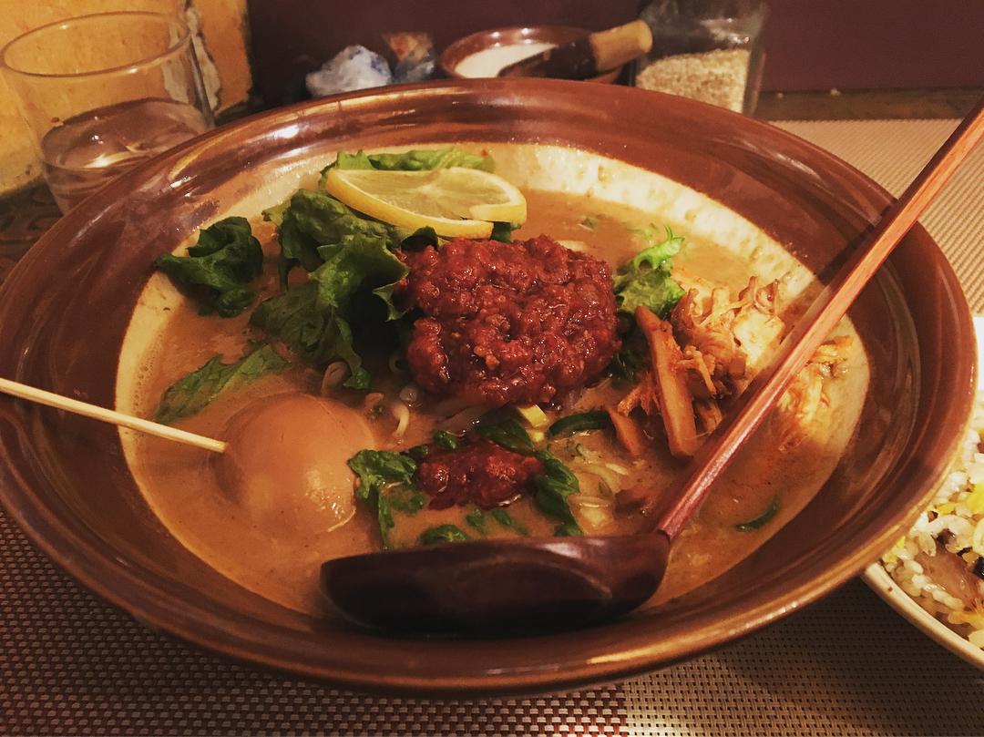 【ABCらーめん】魔女麻醤麺、トッピング:煮玉子 (東京都中央区銀座) 第820回