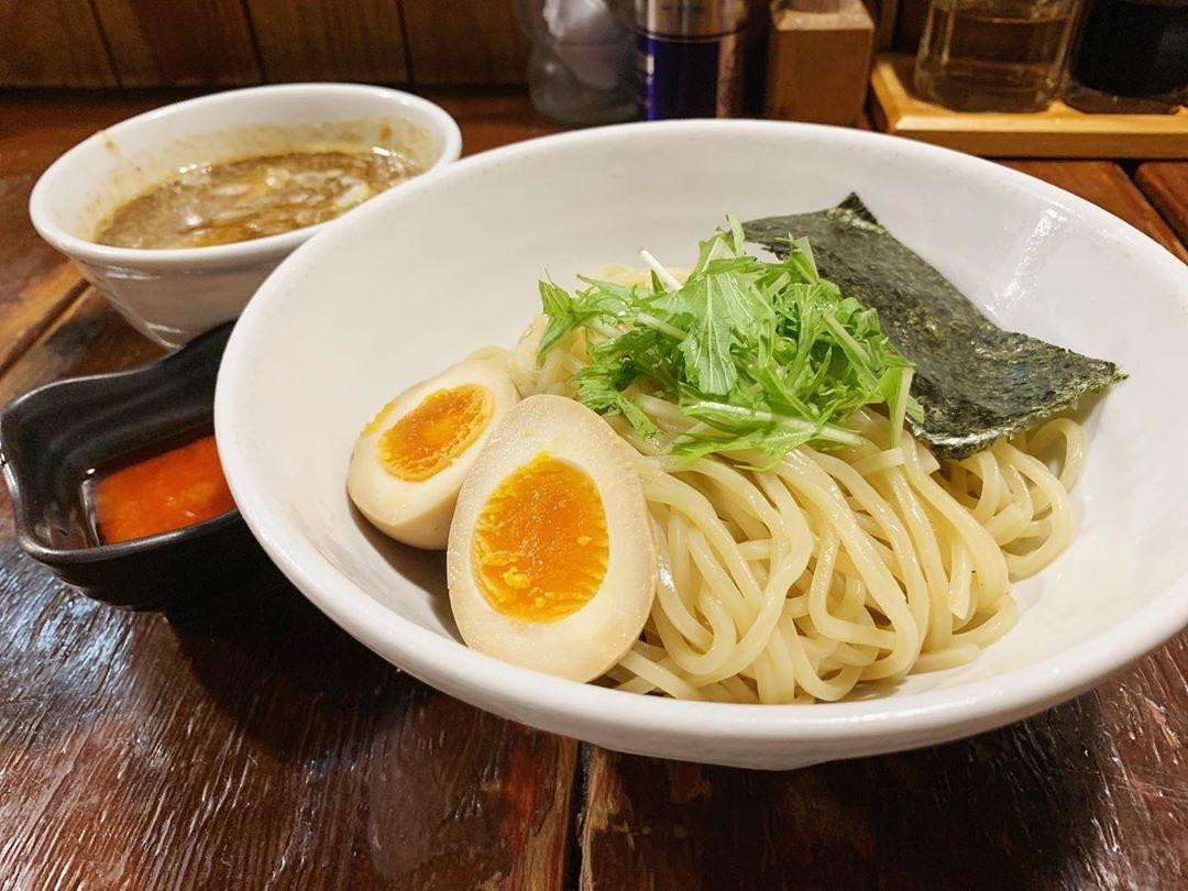 【つけ麺 結心】味玉つけ麺、トッピング:辛み (東京都目黒区自由が丘) 第1412回