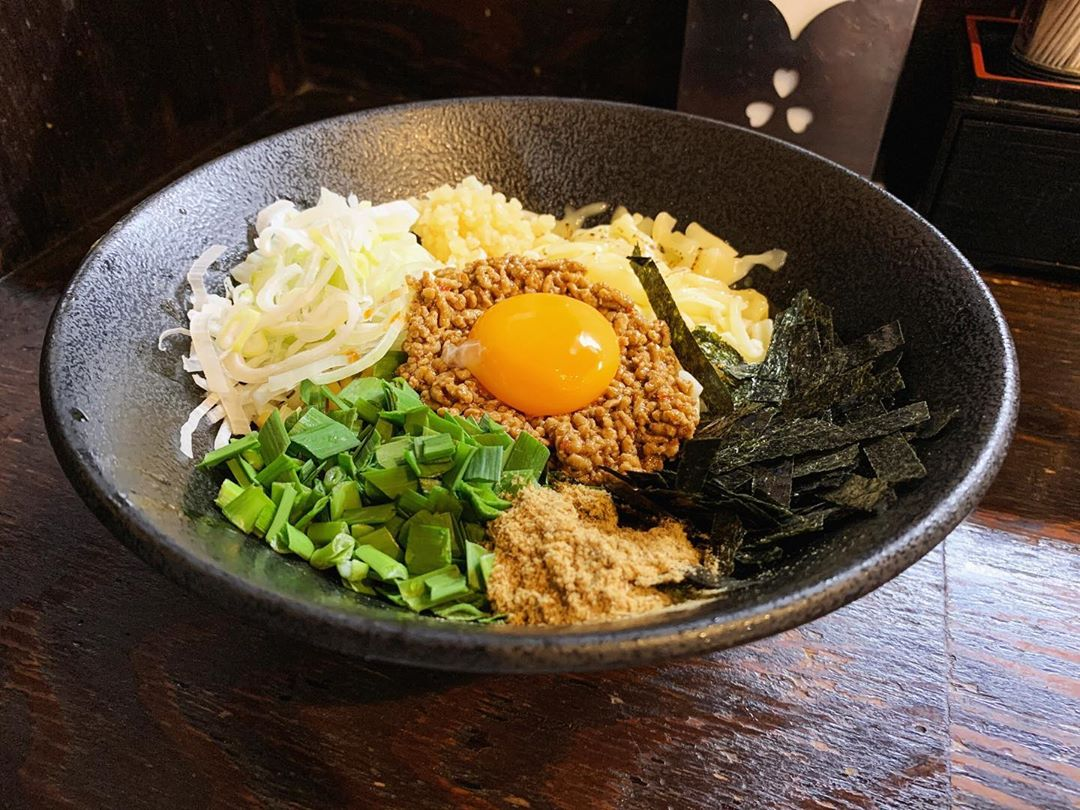 【麺屋一寸星】台湾まぜそば(チーズ 追い飯付き) (東京都目黒区目黒) 第1471回