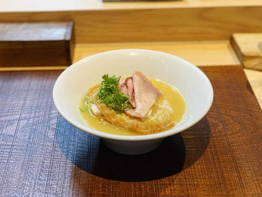 【芛堂寺】猪と鴨と貝出汁+替え玉3種 (茨城県つくば市天久保) 第1494回