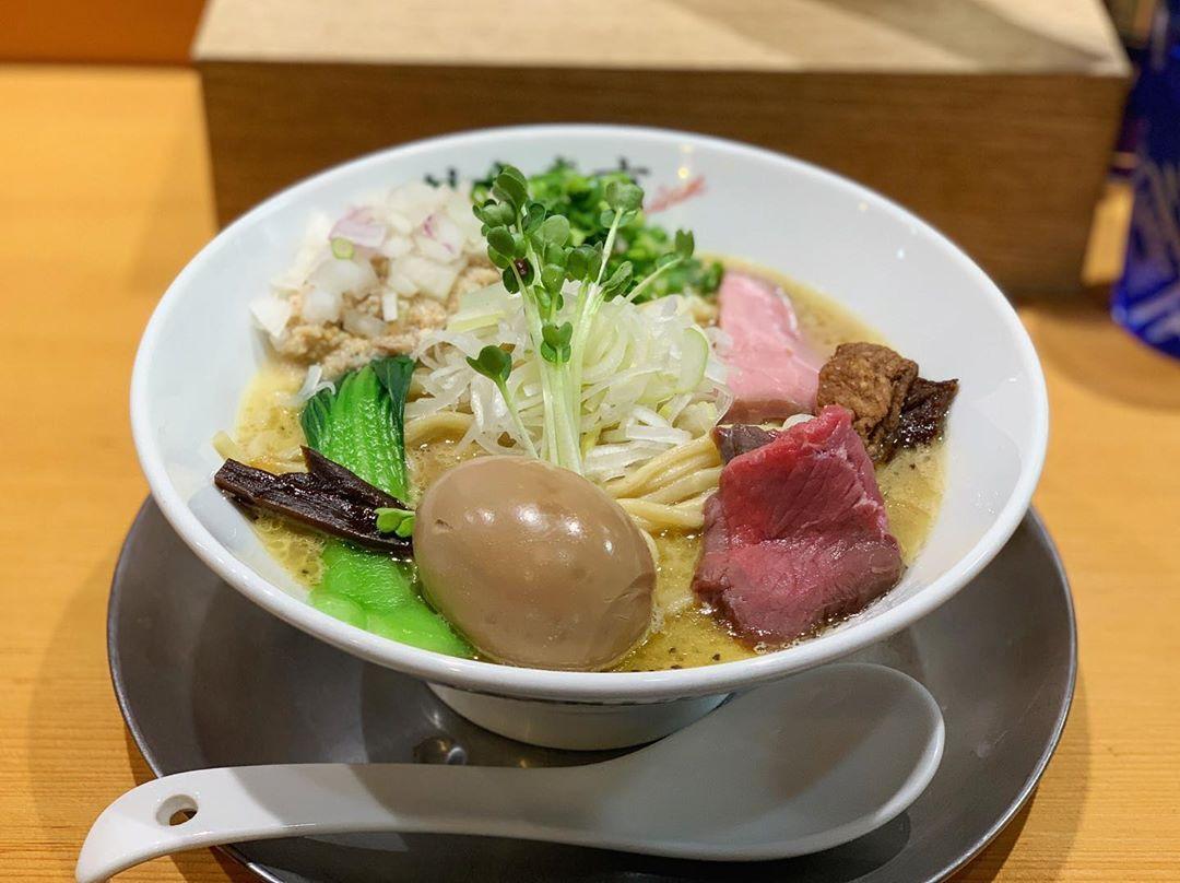 【竹末東京Premium】味玉鶏ホタテそば、【中華蕎麦 三藤】中華そば(白味噌) 第1556回