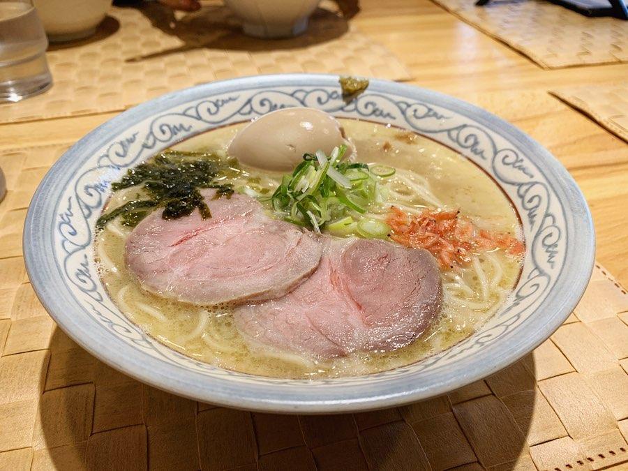 【自家製麺のぼる】京しお+味玉 (石川県金沢市玉鉾) 第1553回